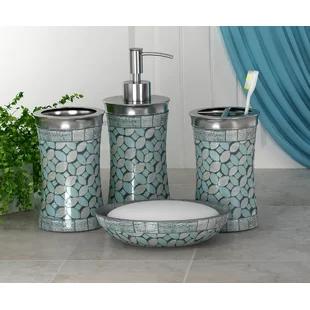 Coastal Bathroom Accessories You Ll Love In 2020 Wayfair Ca In 2020 Bathroom Accessories Sets Silver Bathroom Bathroom Accessories