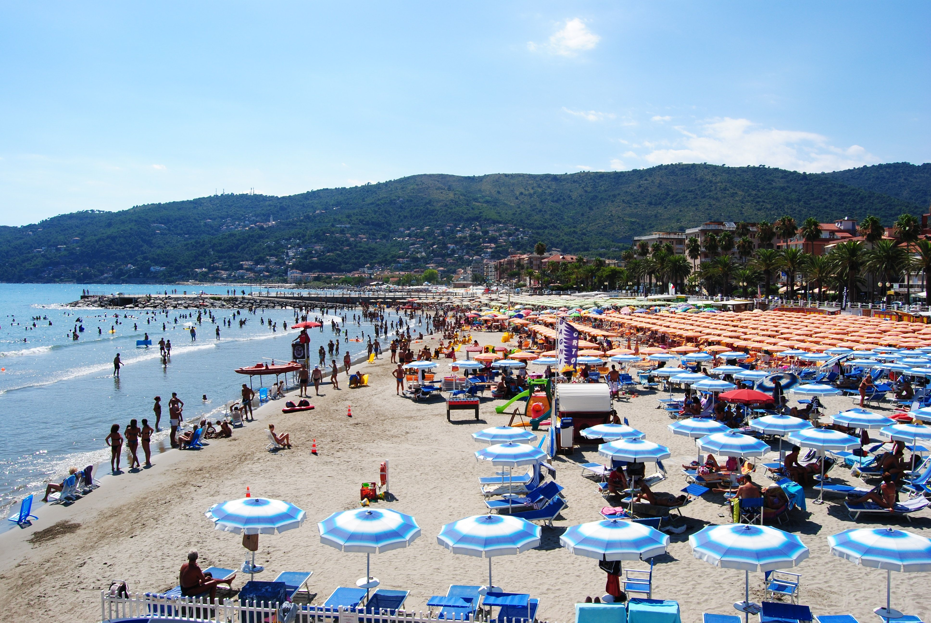 The coastal resort of Marina di Andora is a popular