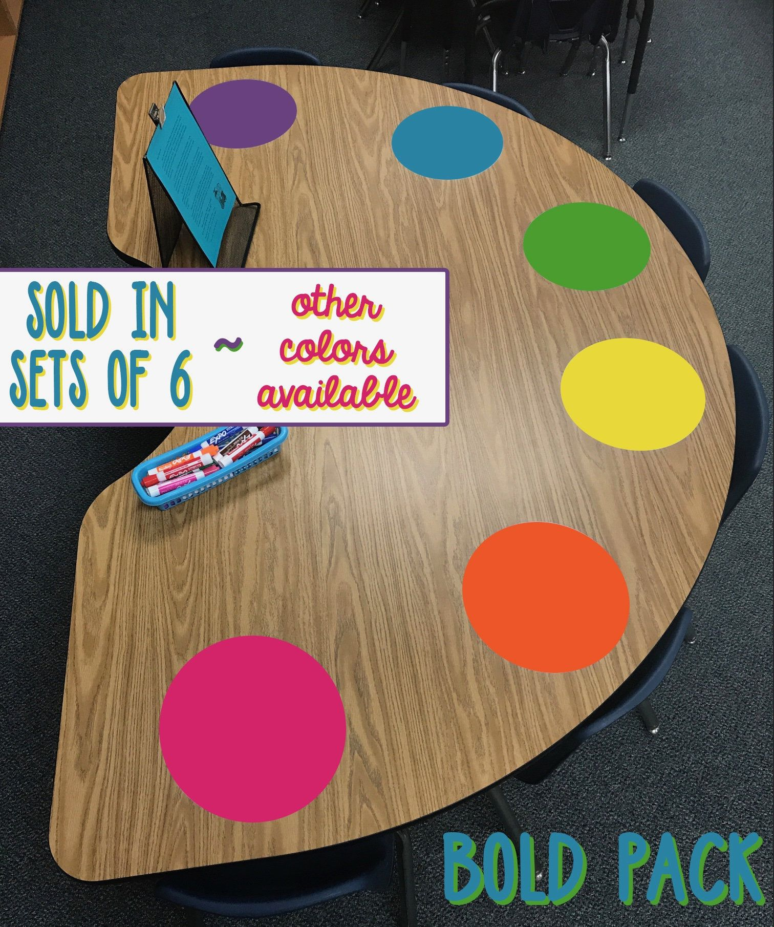 Classroom Table Dot SET / Dry Erase Circles / Reading Table Circles / Reading Table Dry Erase / Table White Boards / Classroom Small Group