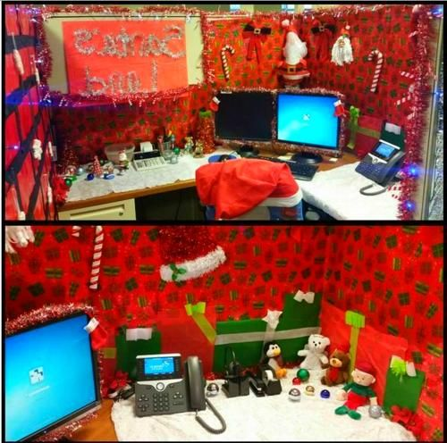 Cubicle Christmas Decorations
