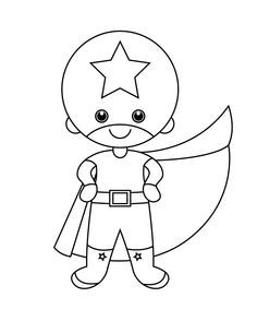 child superhero coloring pages - photo#18