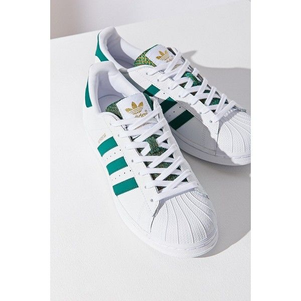 5b2e8f768 adidas Green Superstar Sneaker (1.195 ARS) ❤ liked on Polyvore featuring  shoes