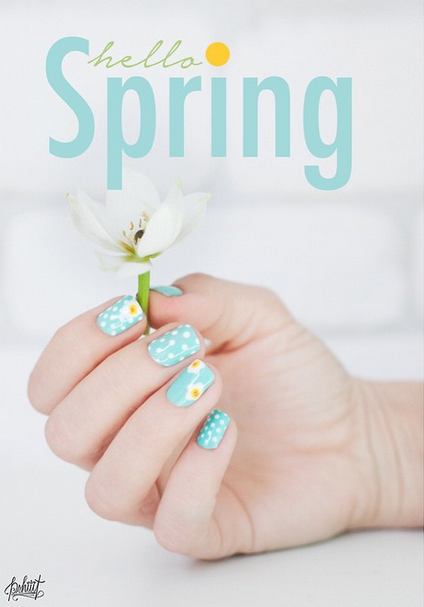 Time to springify your nails! Check out some of these amazing nail designs for spring - we teach you how to create the look yourself!