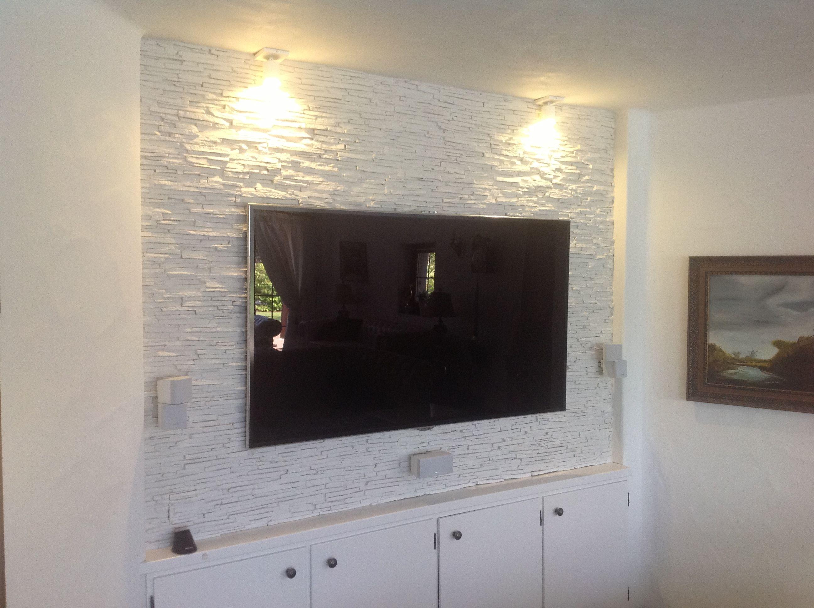 Fernsehwand Steinoptik In 6 Std Bauen Steinverkleidung Fernsehwand Steinoptik