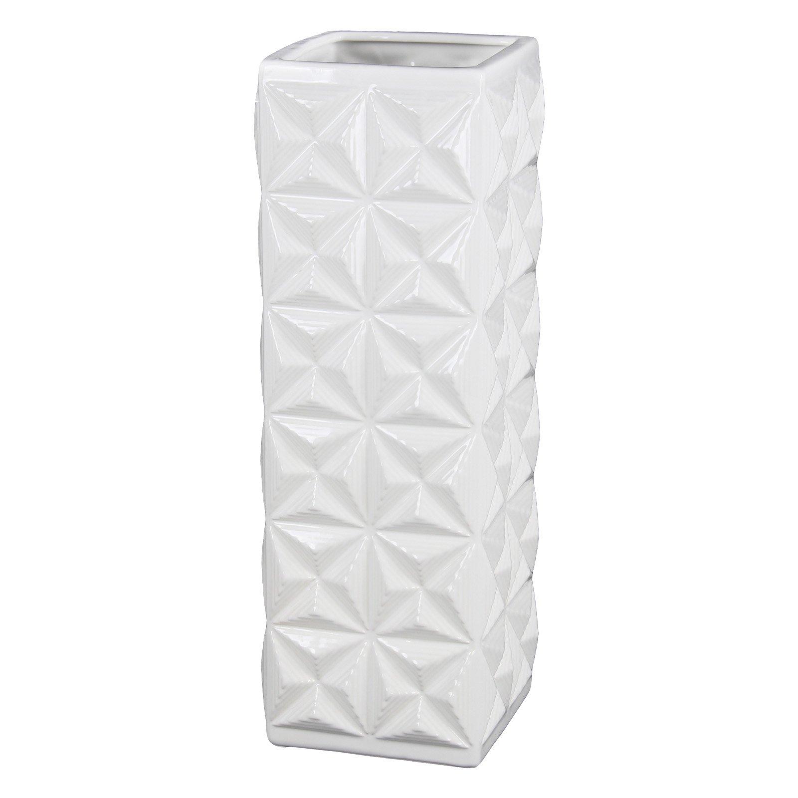 Privilege International Ceramic Square Geometric Table Vase Geometric Table Table Vases Faceted Design