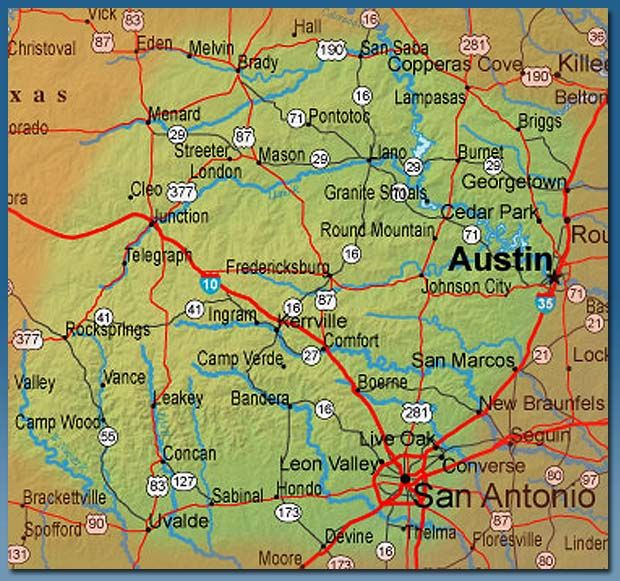 Texas Hill Country Map With Cities | Business Ideas 2013
