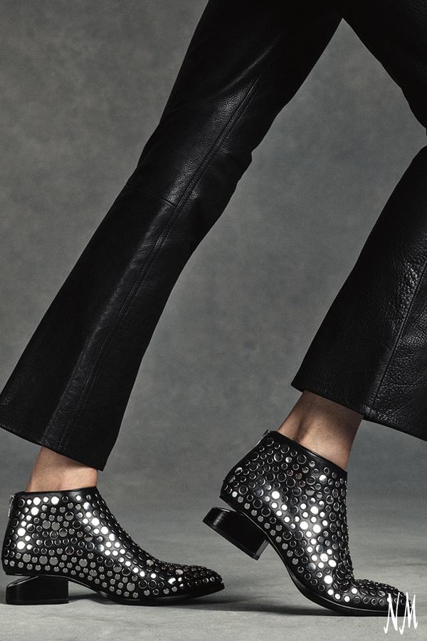 c66e77164ef Kori Studded Leather Lift-Heel Bootie Black | Sponsored: Adorned ...
