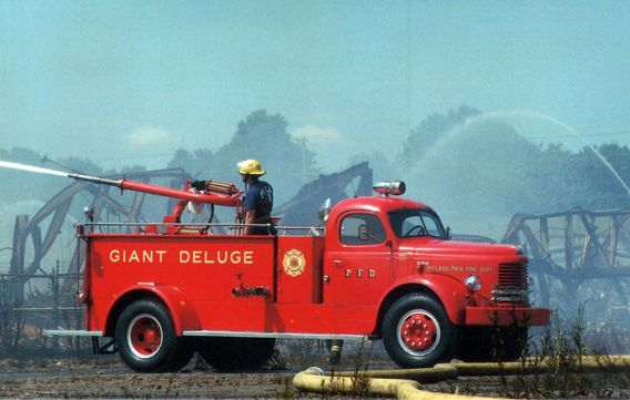 1949 Reo Giant Deluge water canon....