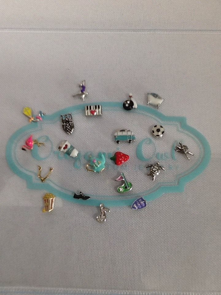 Origami Owl Charm Lot For Locket Total Of 20 Must See Stock Up