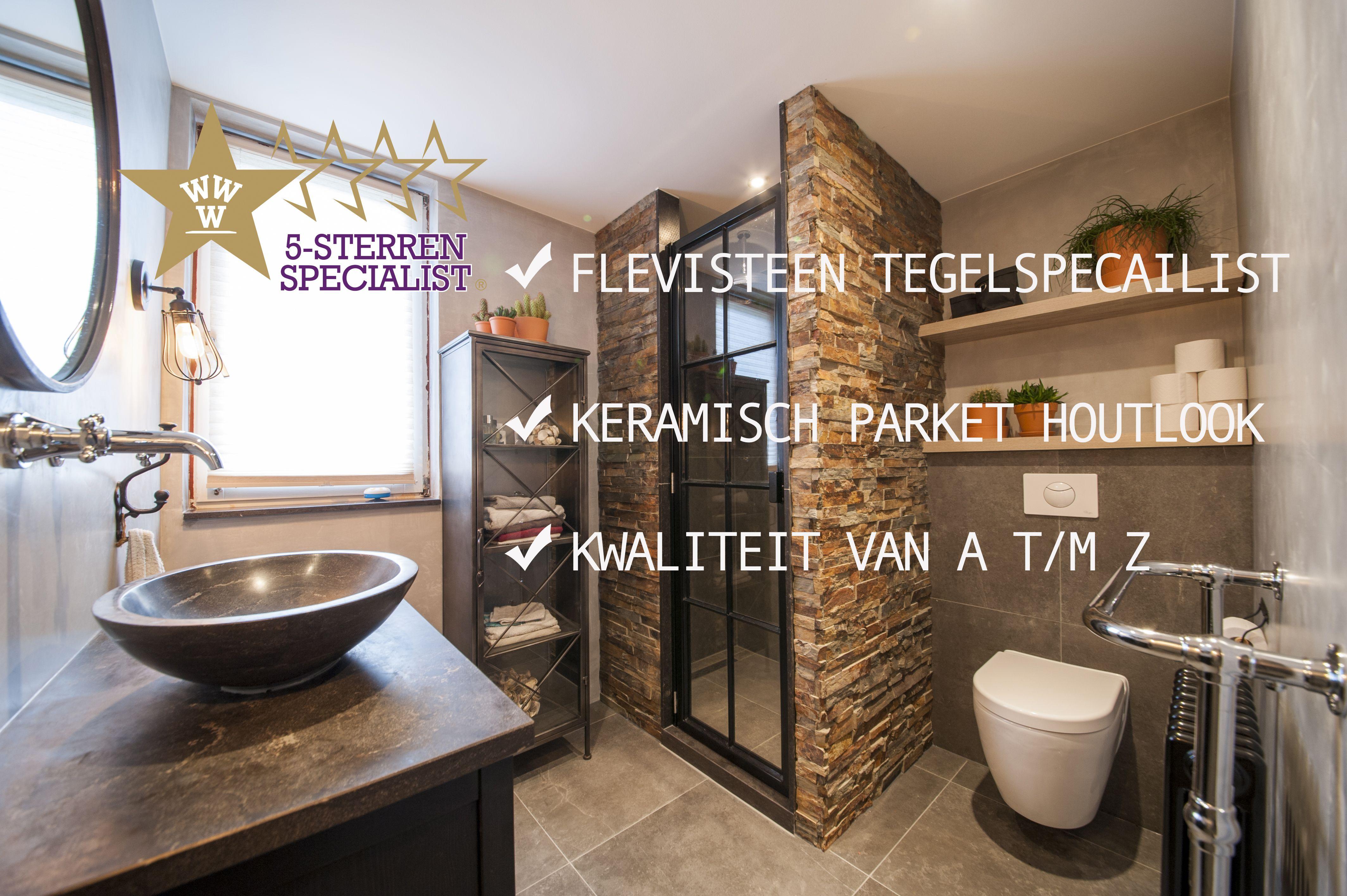 Badkamer tegels in houtlook tegels, keramisch parket. All-in prijzen ...