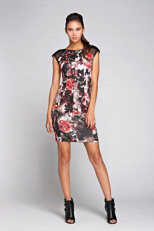 Moda Donna 2015 Autunno Inverno Rinascimento Minidress Floreale ... c6233c1f073