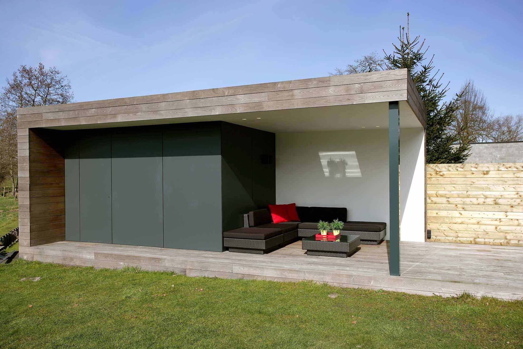 Modern bijgebouw trespa regio antwerpen nova concepts