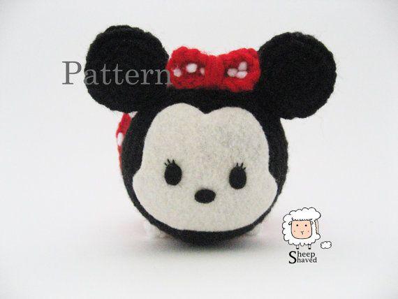 Crochet Minnie Mouse Tsum Tsum Pattern | tsum tsum♡ | Pinterest