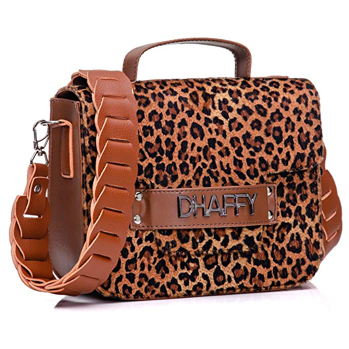 Bolso de mano Dhaffy Brown Jaguar, asa artesanal. color: marrón; talla: M  – Bolsa de moda