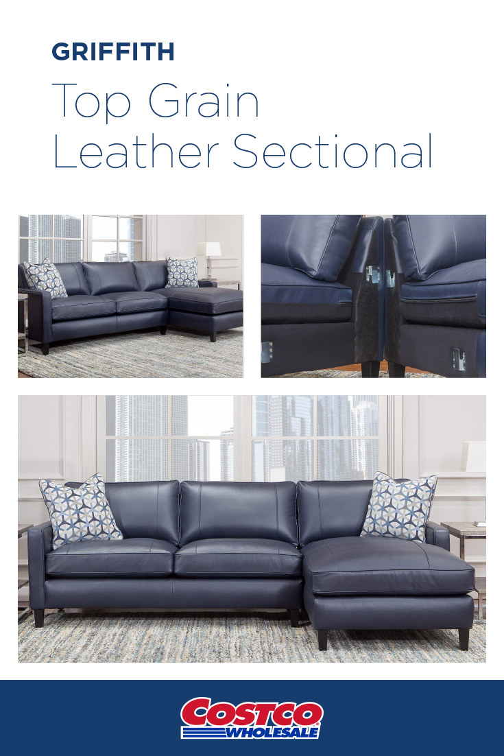 Griffith Top Grain Leather Sectional Top Grain Leather Sectional