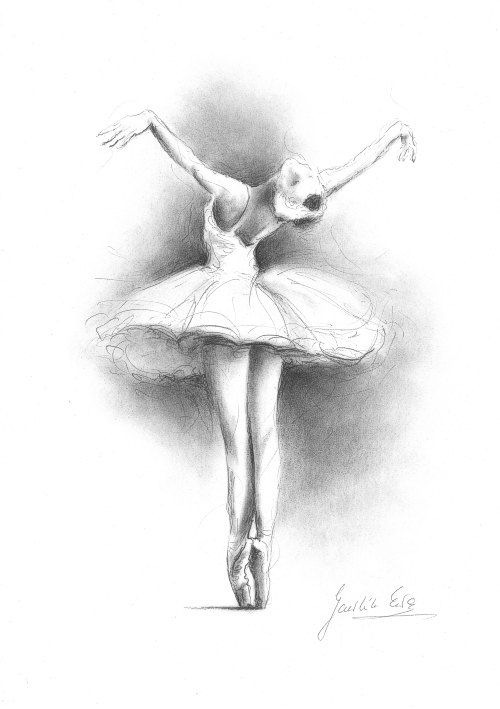 Ballerina Print, Ballerina Sketch, Print of Drawing