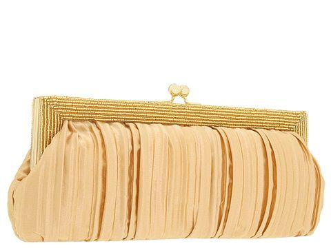 Franchi Handbags Schiaparelli Pleated Silk Clutch