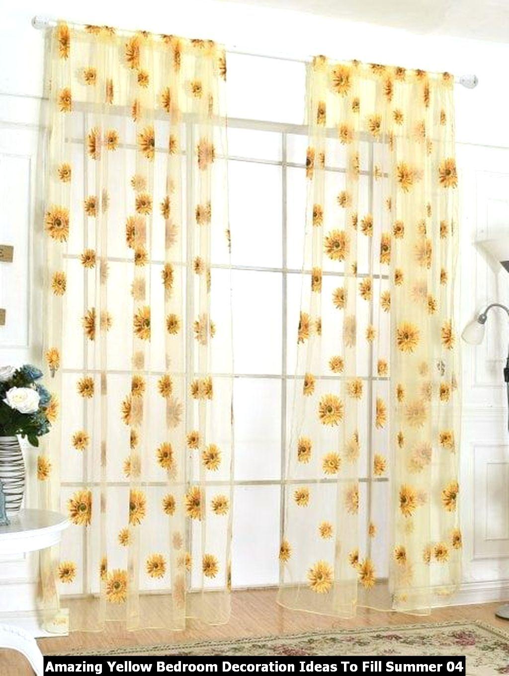 Amazing Yellow Bedroom Decoration Ideas To Fill Summer In 2020 Sunflower Kitchen Decor Sunflower Kitchen Kitchen Decor Walmart