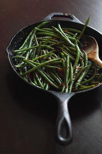 Quick Skillet Green Beans by magpiesrecipes, via Flickr