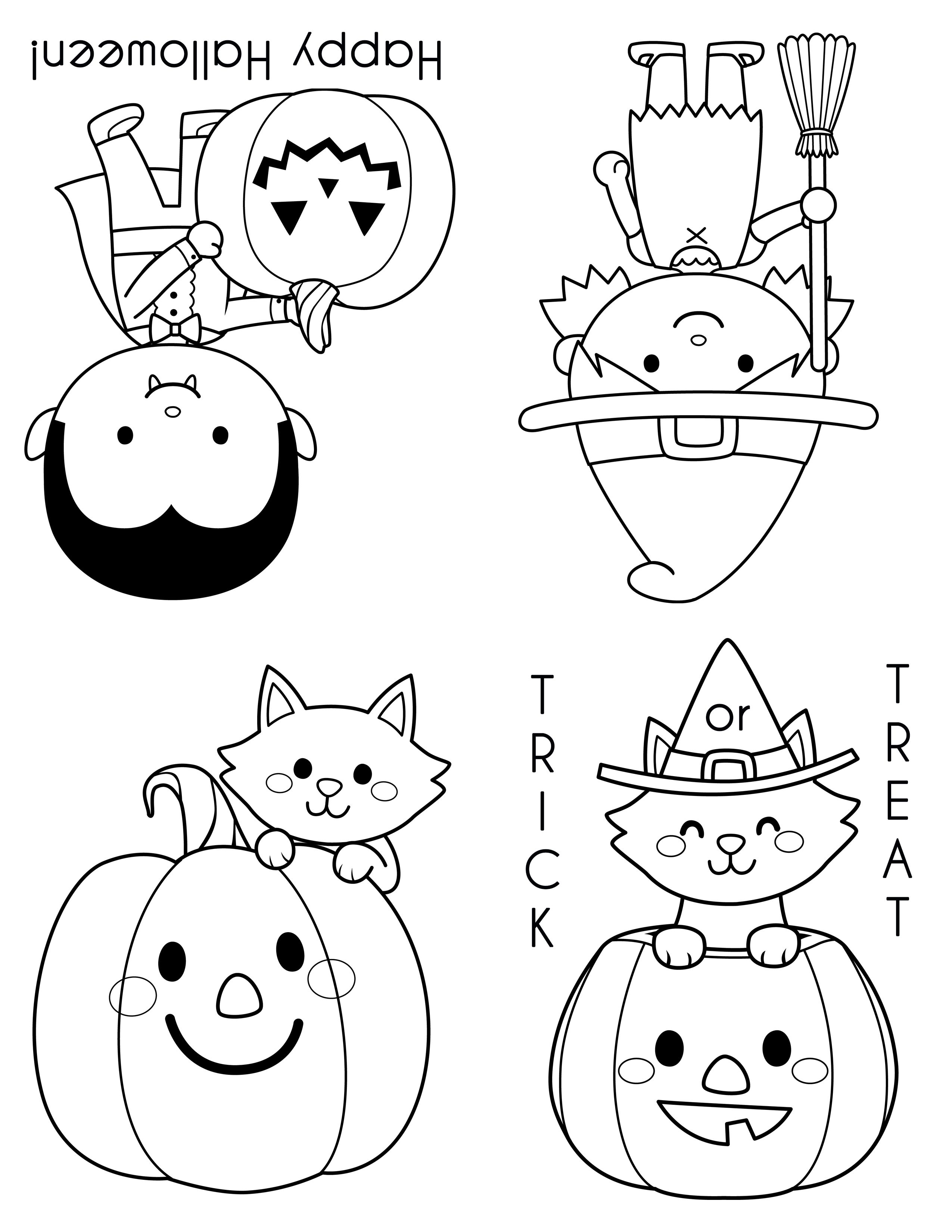 These Cute Mini Halloween Coloring Books Are The Perfect