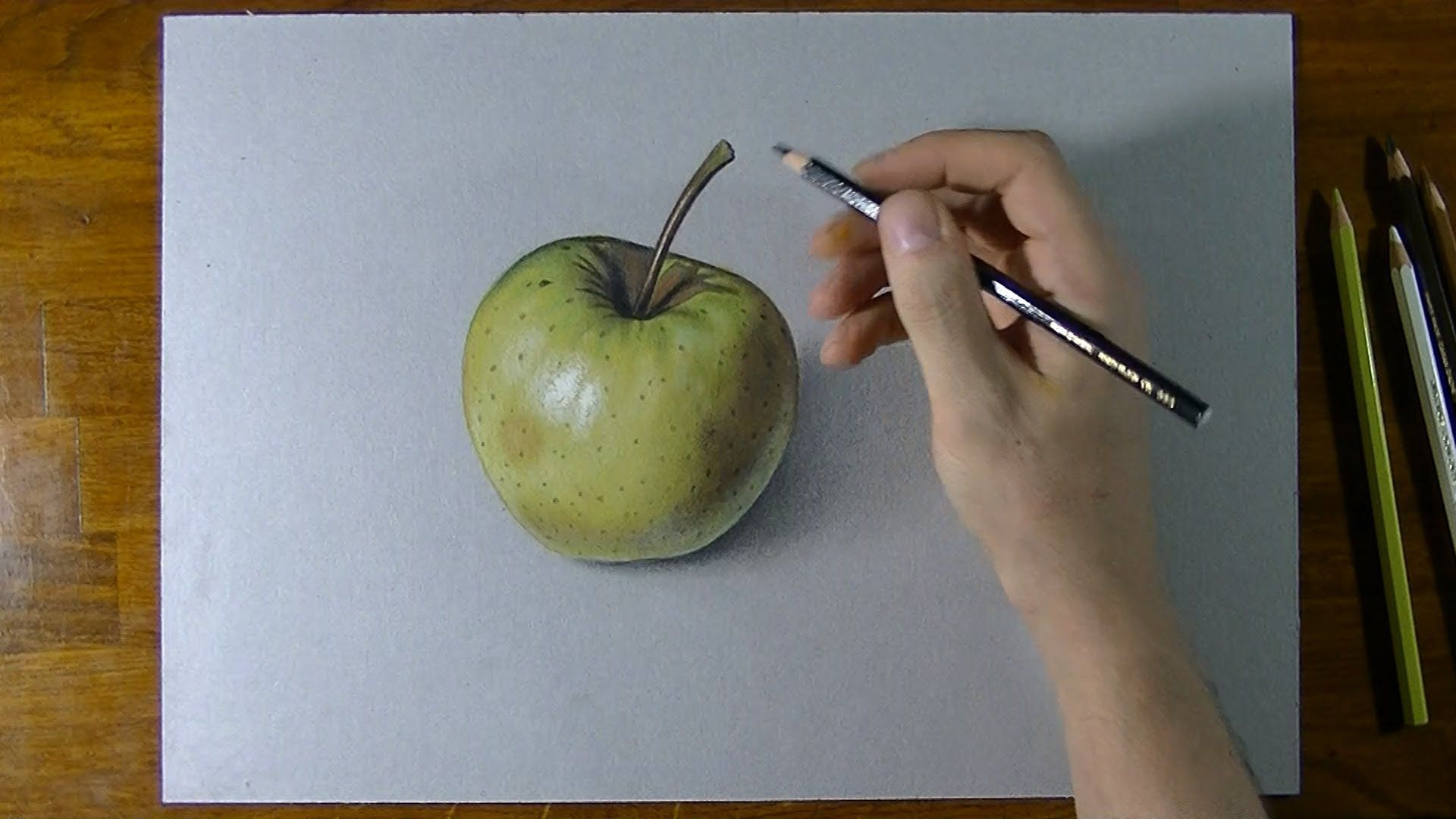 How i draw a yellow apple realistic drawing spray paint for Disegno 3d free