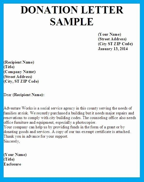 Sample In Kind Donation Request Sample In Kind Donation