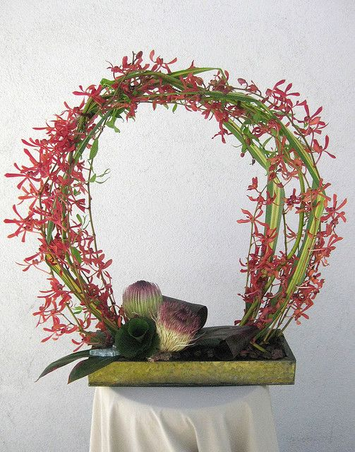 3-27 orchid o   Blumengestecke, Gestecke und Schnittmuster