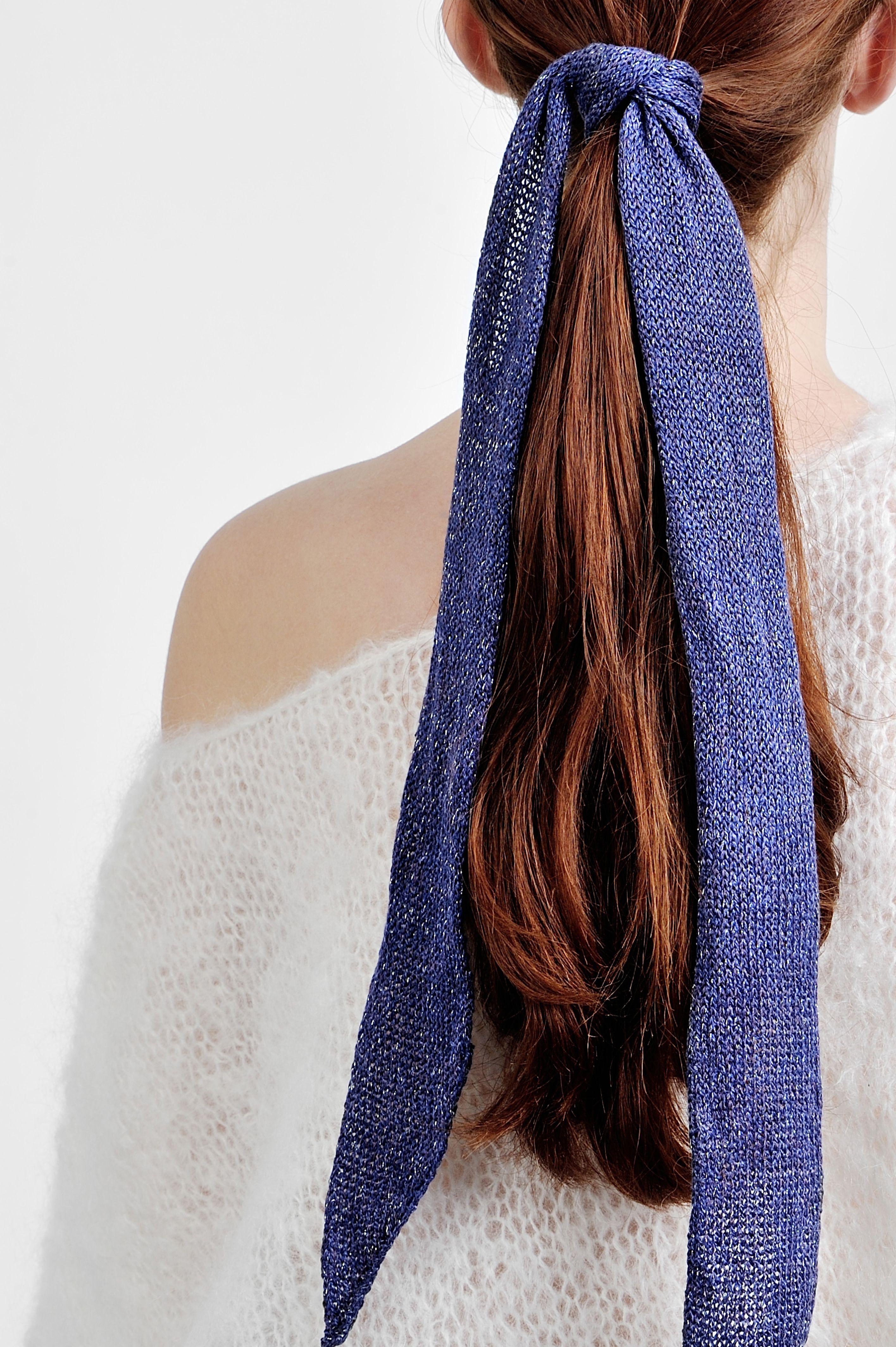Bohemian head wrap braided adjustable headband knitted