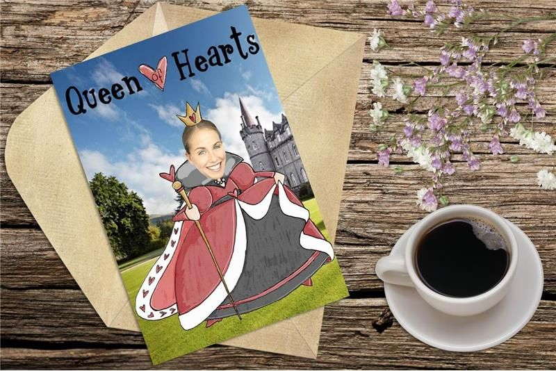 Personalized Love Card. The queen of hearts, valentine's ...