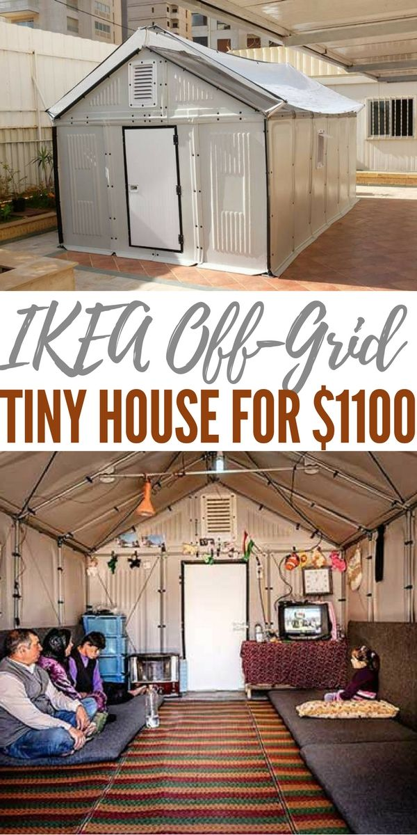ikea off grid tiny house for 1100 camping hacks pinterest haus kleines h uschen und. Black Bedroom Furniture Sets. Home Design Ideas