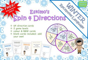 *December FREEBIE* Winter Following Directions Game *Group Work*