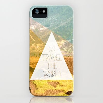 Some fashionable inspiration and new trends for your online birthday or christmas shopping spree. Go travel the world - rice field and geometric typography art iPhone & iPod Case by Little Smilemakers Studio - $35.00