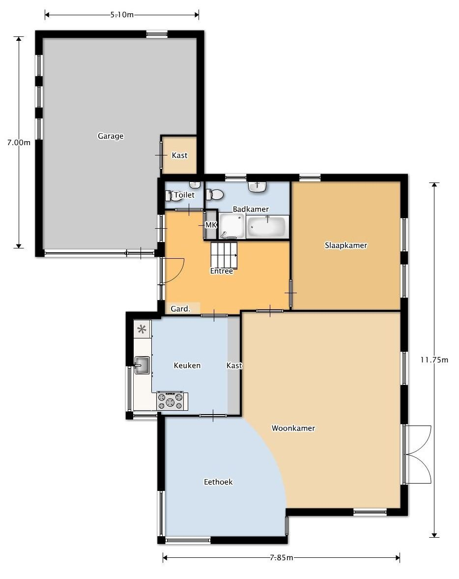 Plattegrond woning keuken in het midden google zoeken for Plattegrond huis tekenen