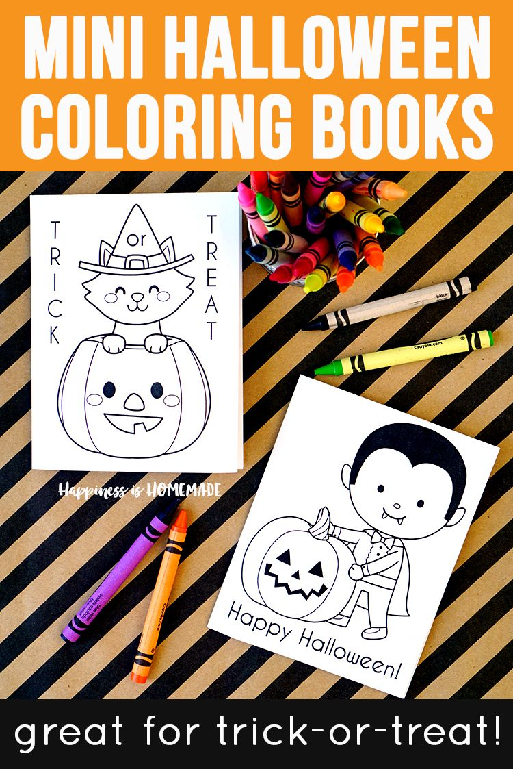 These Cute Printable Mini Halloween Coloring Books Are The Perfect Sugar Free Halloween Coloring Book Halloween Printables Free Free Halloween Coloring Pages