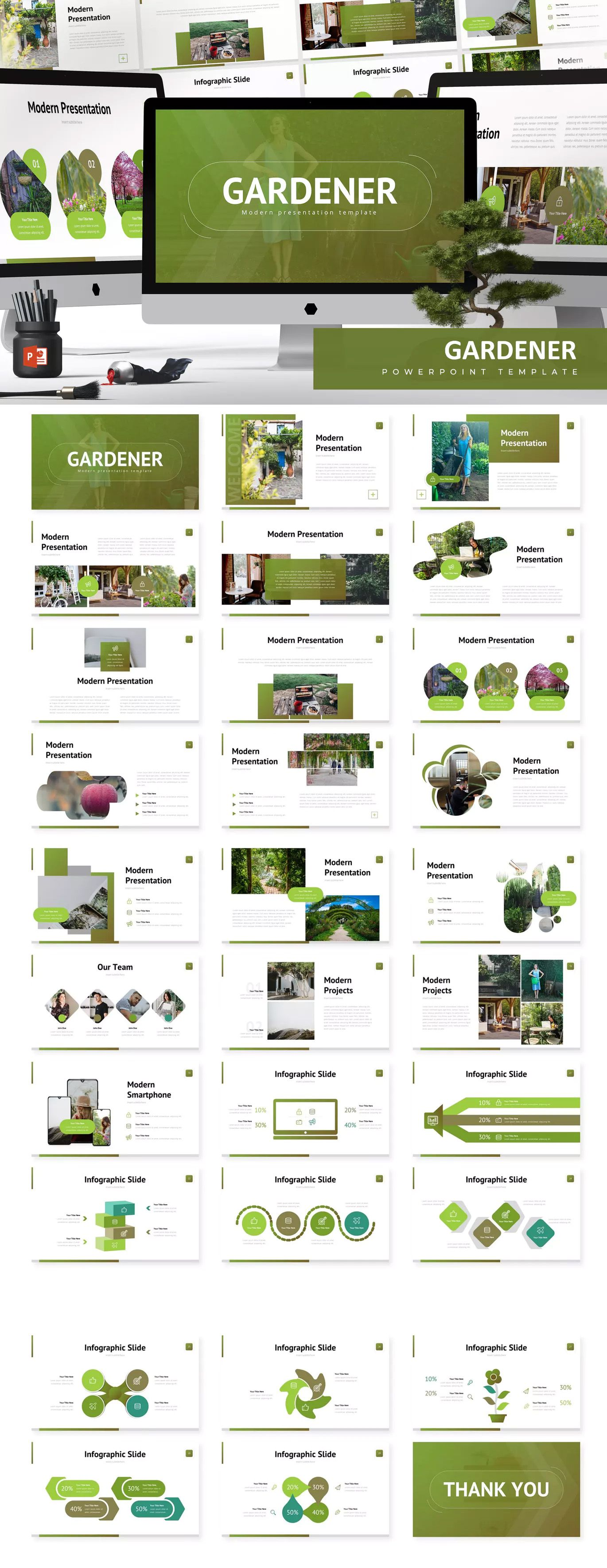 Gardener - Powerpoint Template by aqrstudio on ...