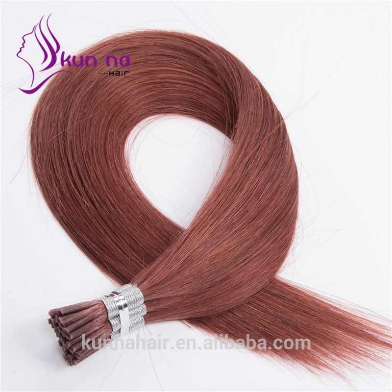 Brazilian Virgin Hair Color33 I Tip Hair Extensions Natural Remy
