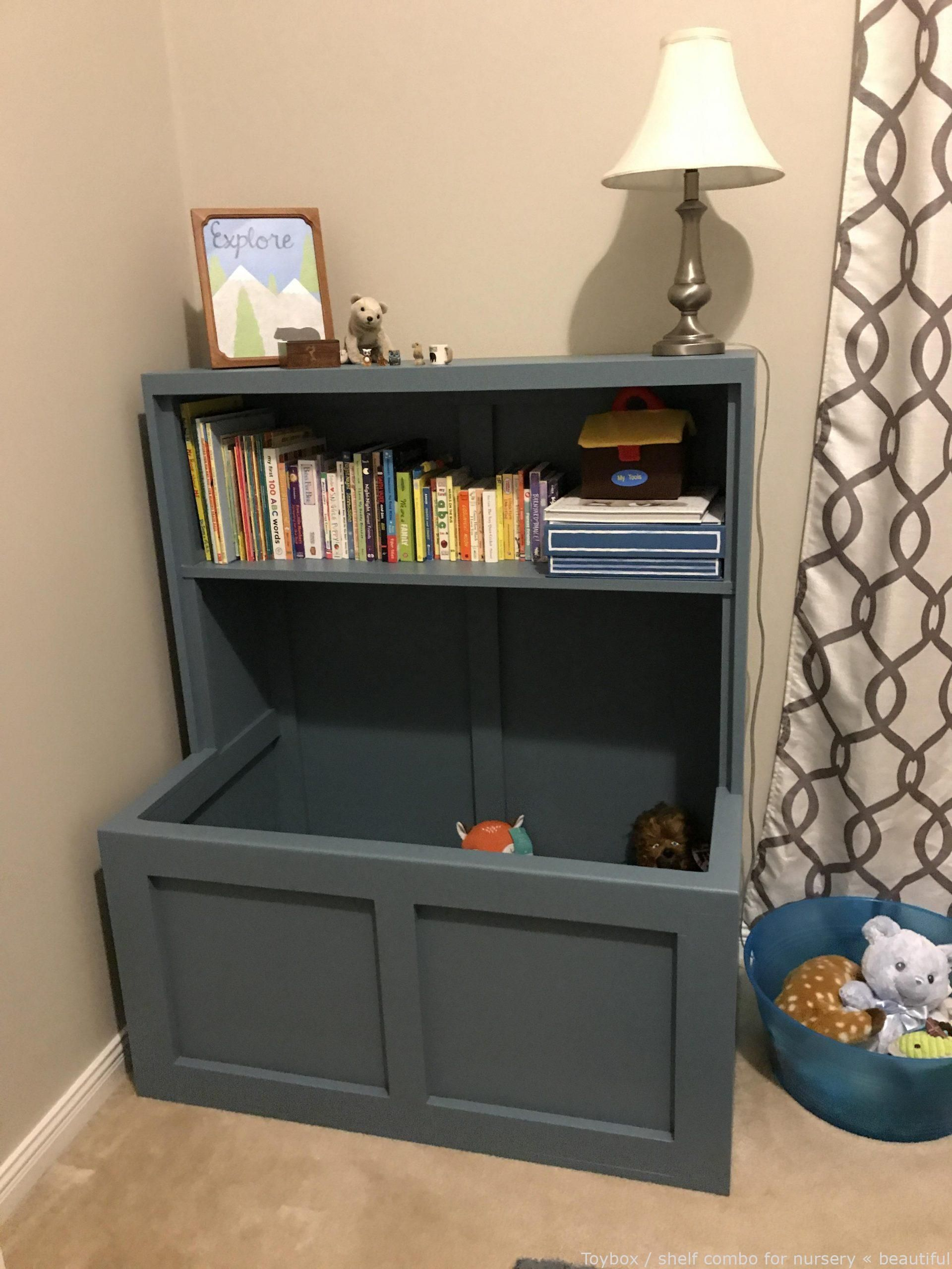 Diy Toybox Shelf Combo For Nursery Formidable Cool Diys Diy Design Diy Urban Dyi Home Improvement In 2020 Toy Boxes Shelves Nursery Shelves