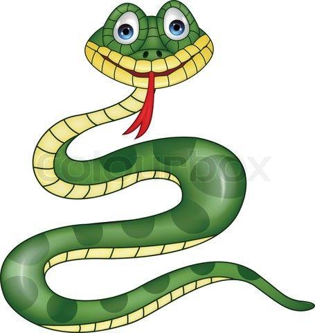 Vector Of Vector Illustration Of Funny Green Snake Cartoon Cartoon Posters Snake Cartoon