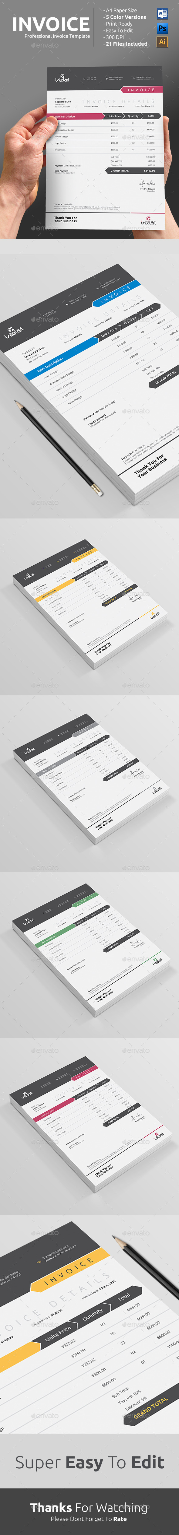 Pin By Best Graphic Design On Proposal Invoice Templates Invoice