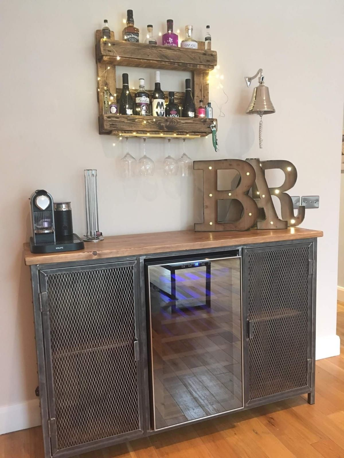 competitive price cfe5d 82551 Industrial sideboard with wine fridge by Creative Fab Worx ...