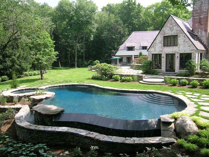Landscape Design Portfolio Hoffman Landscapes Wilton Ct Pool