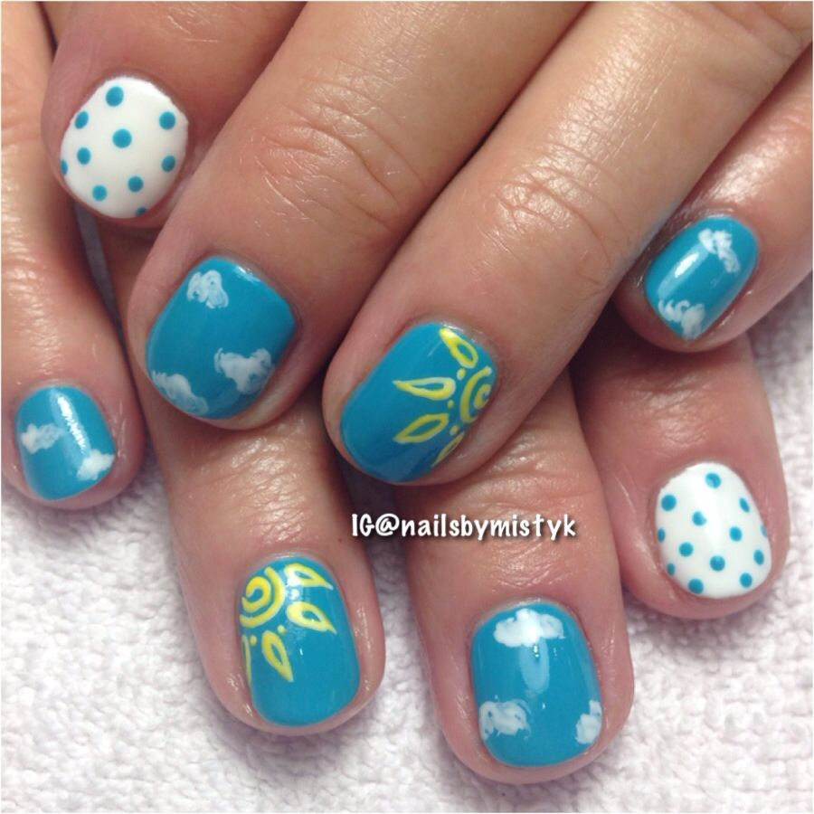 Shellac nail art. Clouds and sun nail art - Shellac Nail Art. Clouds And Sun Nail Art My NAIL ART WORK