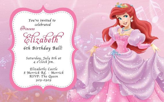 Custom Photo Invitations The Little Mermaid Ariel Birthday Invitation You Print Printable I Cu