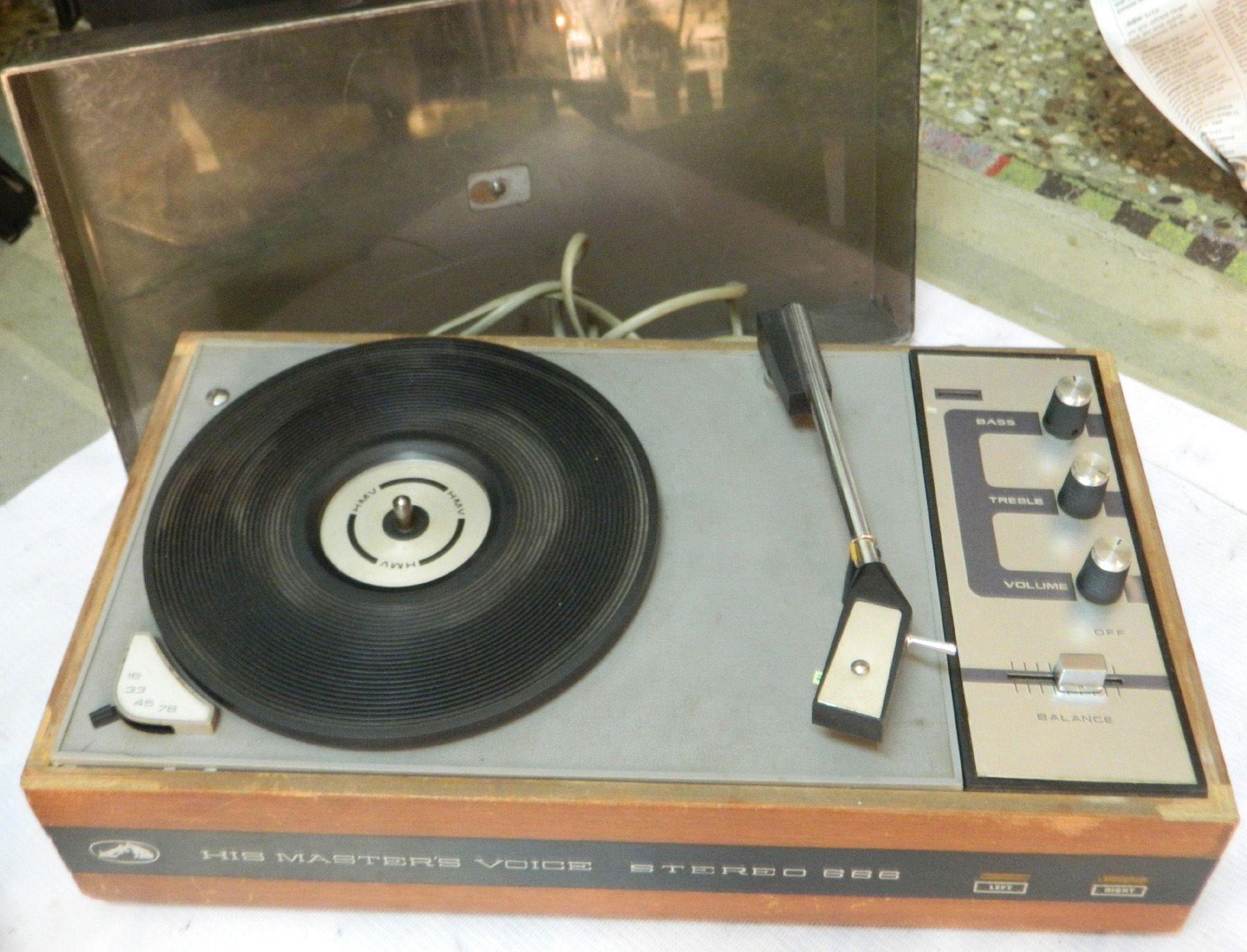 Hmv Stereo 666 Vintage Simple Record Player With Built In Amp