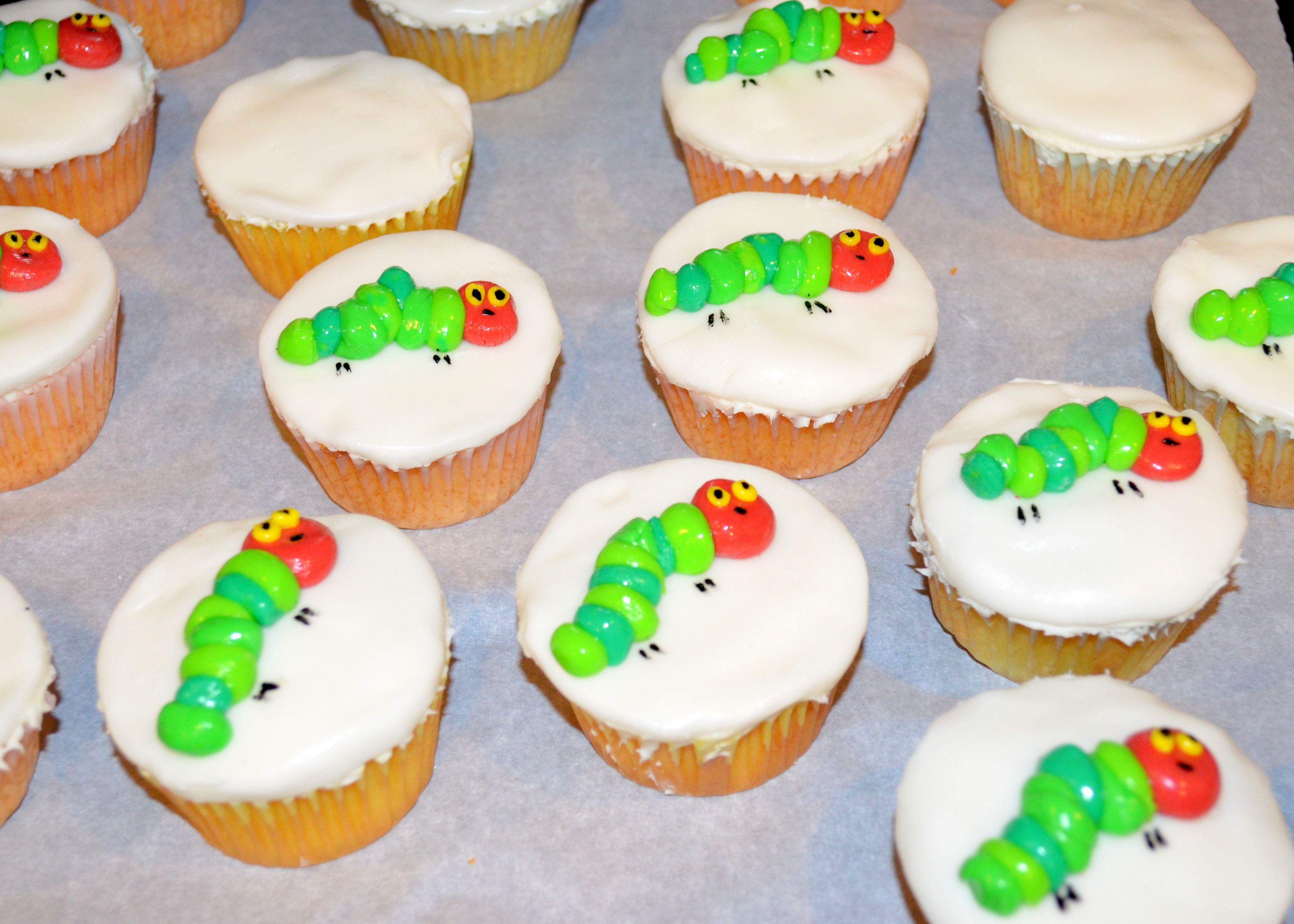Hungry Caterpillar Cupcakes Marshmallow Fondant