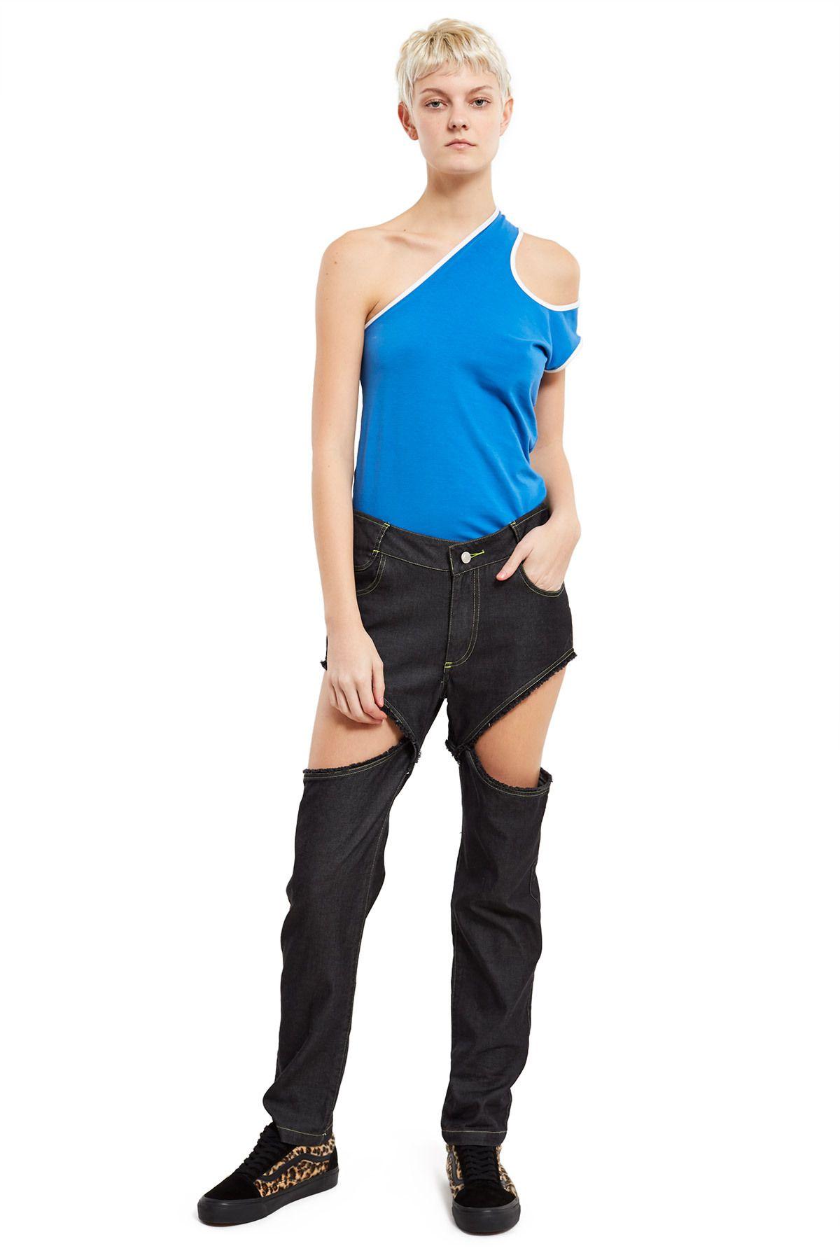 Telfar, Simplex Open Side Jeans These openside jeans can