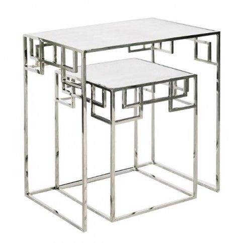 THE WELL APPOINTED HOUSE - Luxury Home Decor- Nesting Tables in Nickel - End Tables & Sofa Tables - Furniture #Furniture #interiordesign #redecorating #decorate #homedecor