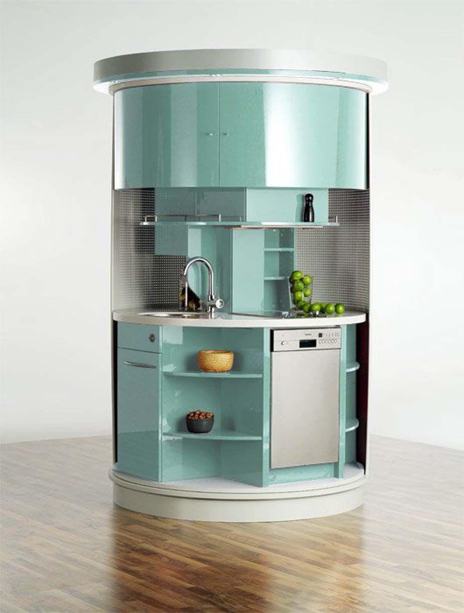 Cocinas pequenas colores16 | modelos de cocinas chicas | Pinterest ...