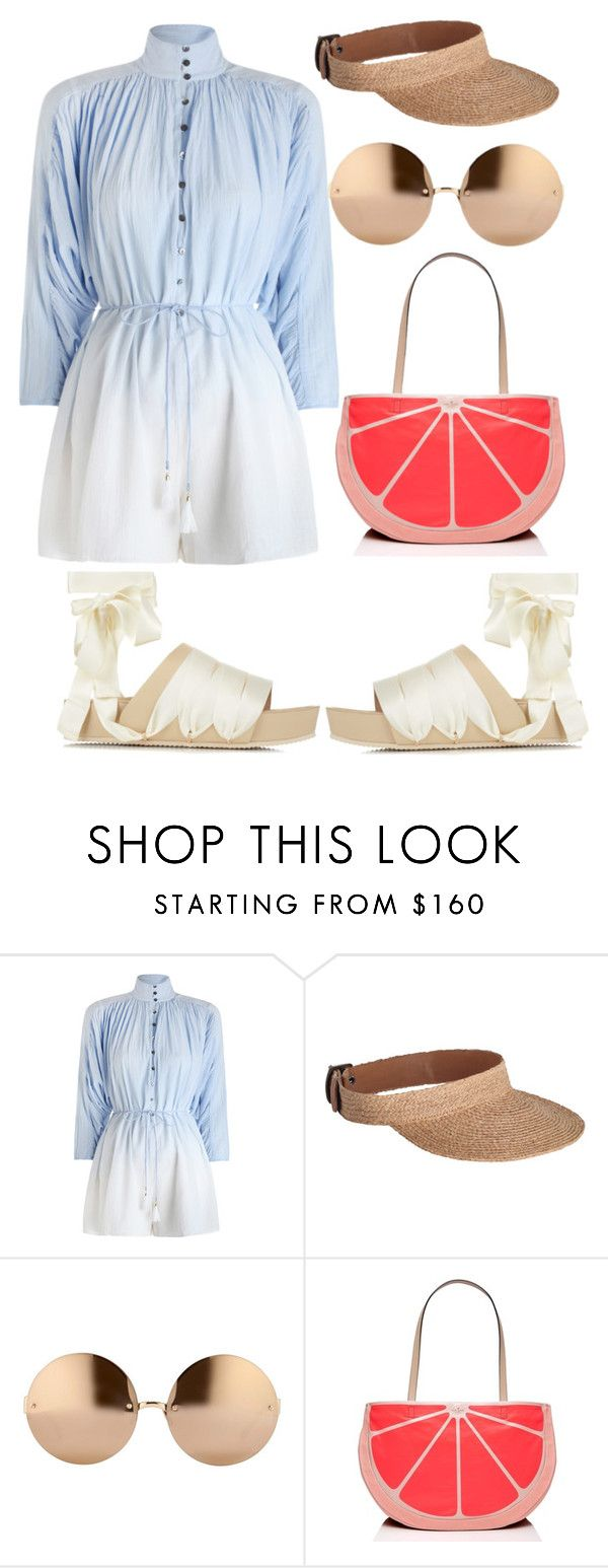 """""""Untitled #264"""" by christenamelea on Polyvore featuring Zimmermann, Linda Farrow, Kate Spade and E L L E R Y"""