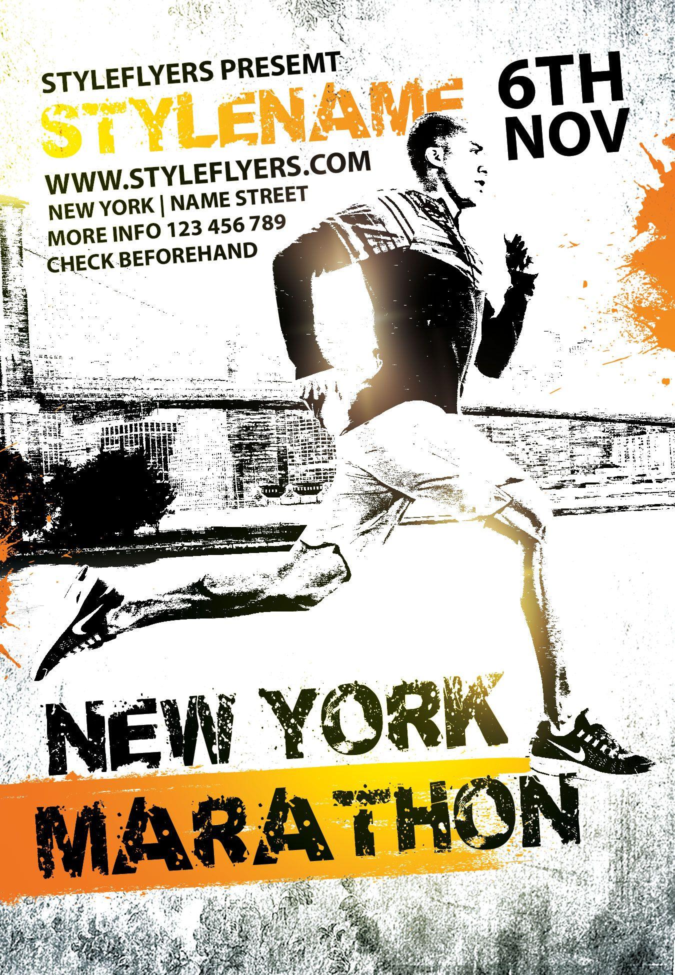 New York Marathon PSD Flyer Template